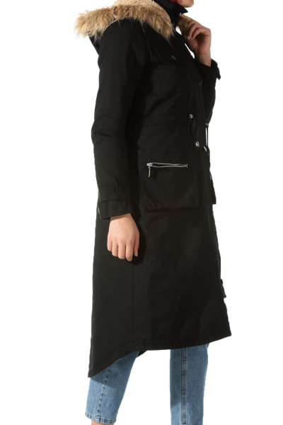 FURRY LINED OVERCOAT