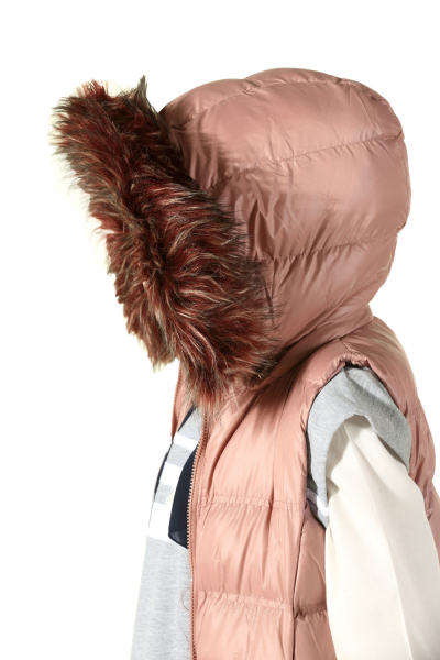 Hooded Furry Zippered Vest