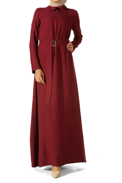 Kuşağı Tokalı Elbise