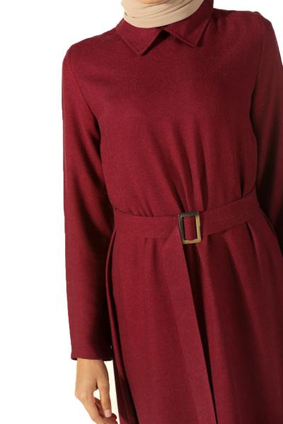 Viskon Kuşaklı Elbise