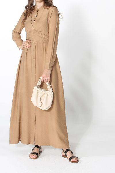BELT DETAIL BUTTONED DRESS