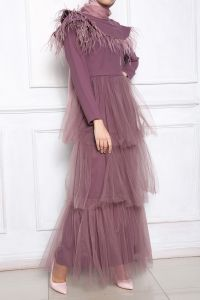 BELTED HIJAB EVENING DRESS