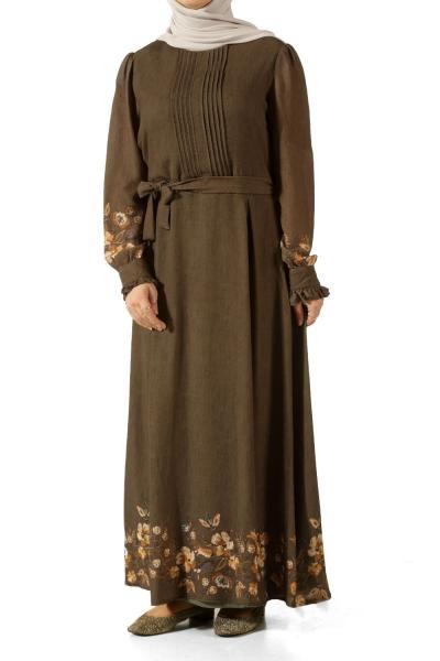 Kuşaklı Astarlı Elbise