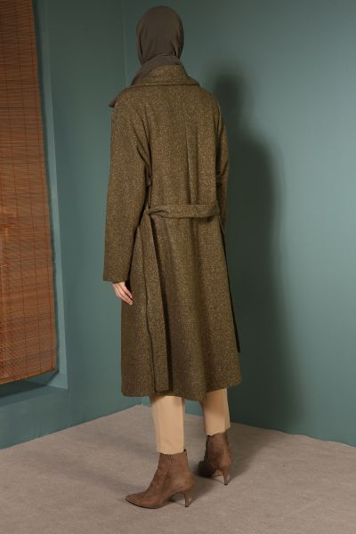 BELTED CAPE WITH POCKET