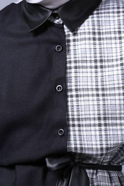 Kuşaklı Düğmeli Gömlek