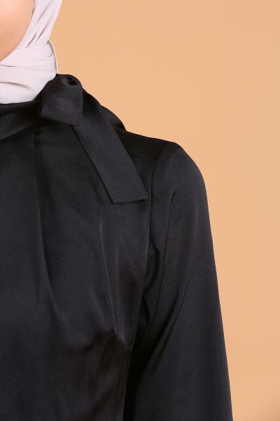Lal By Hilal Kuşaklı Astarlı Kloş Elbise