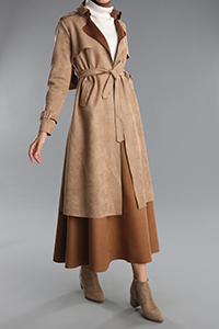 Belted Pcoket Trench Coat