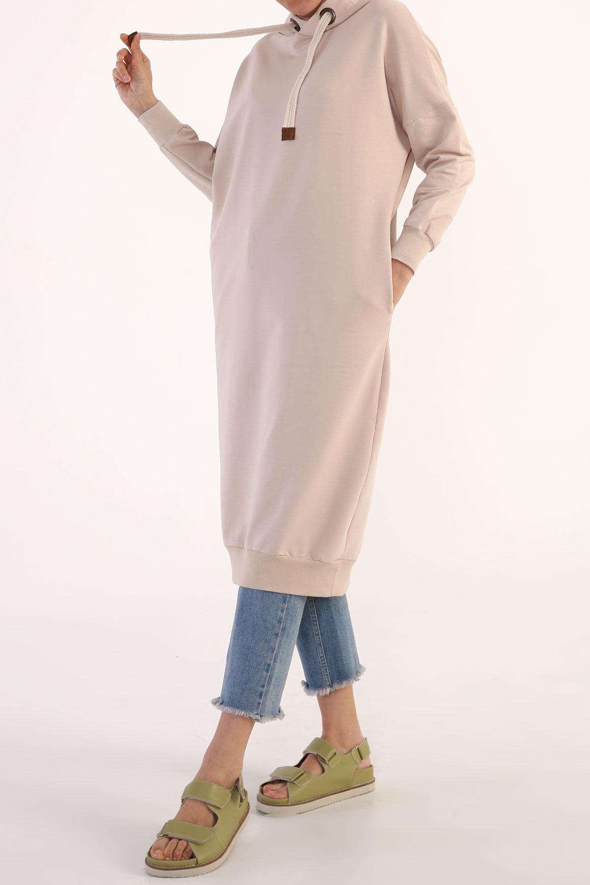 Comfy Sweatshirt Tunic With Pocket