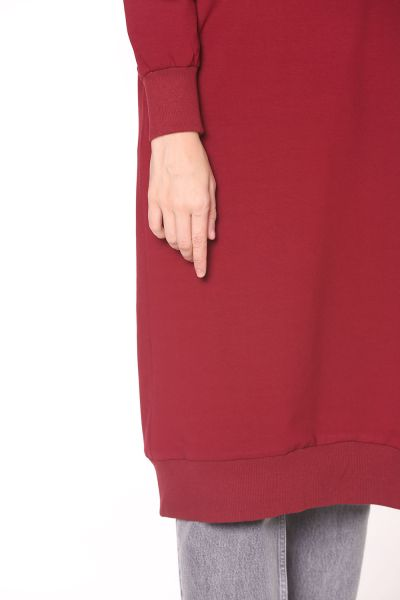 T SLEEVE COMBED COTTON TUNIC WITH EYELET