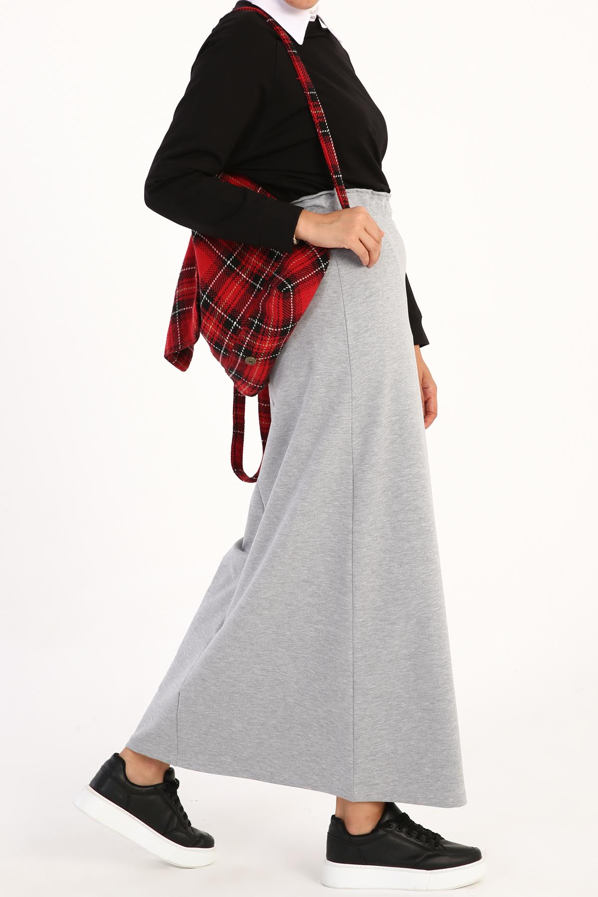 Elastic Waist Basic Skirt