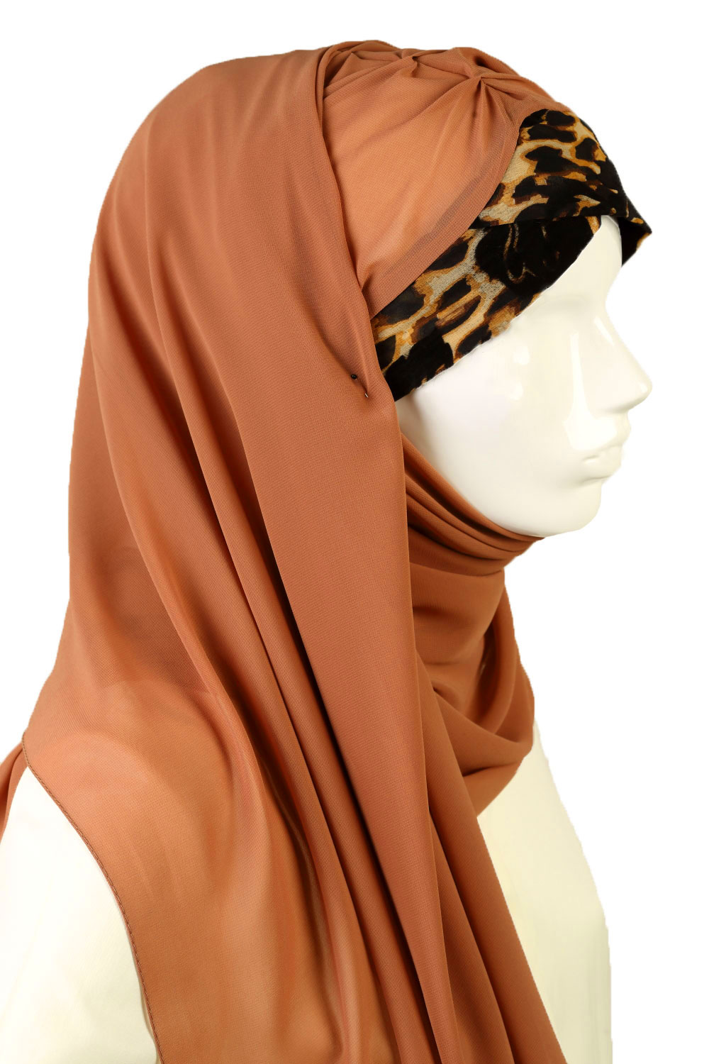 LEOPARD PATTERNED INSTANT CHIFFON SCARF