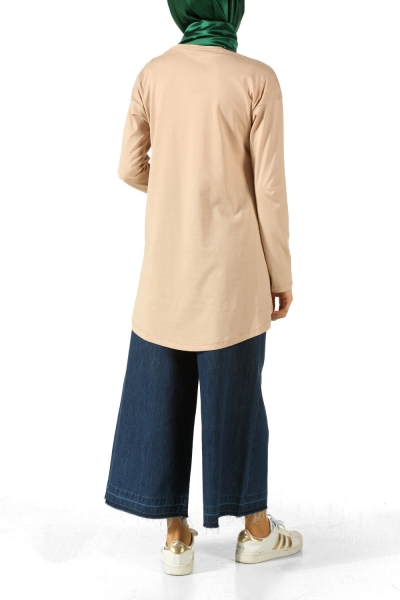 LET'S GO PRINTED COMBED COTTON TUNIC