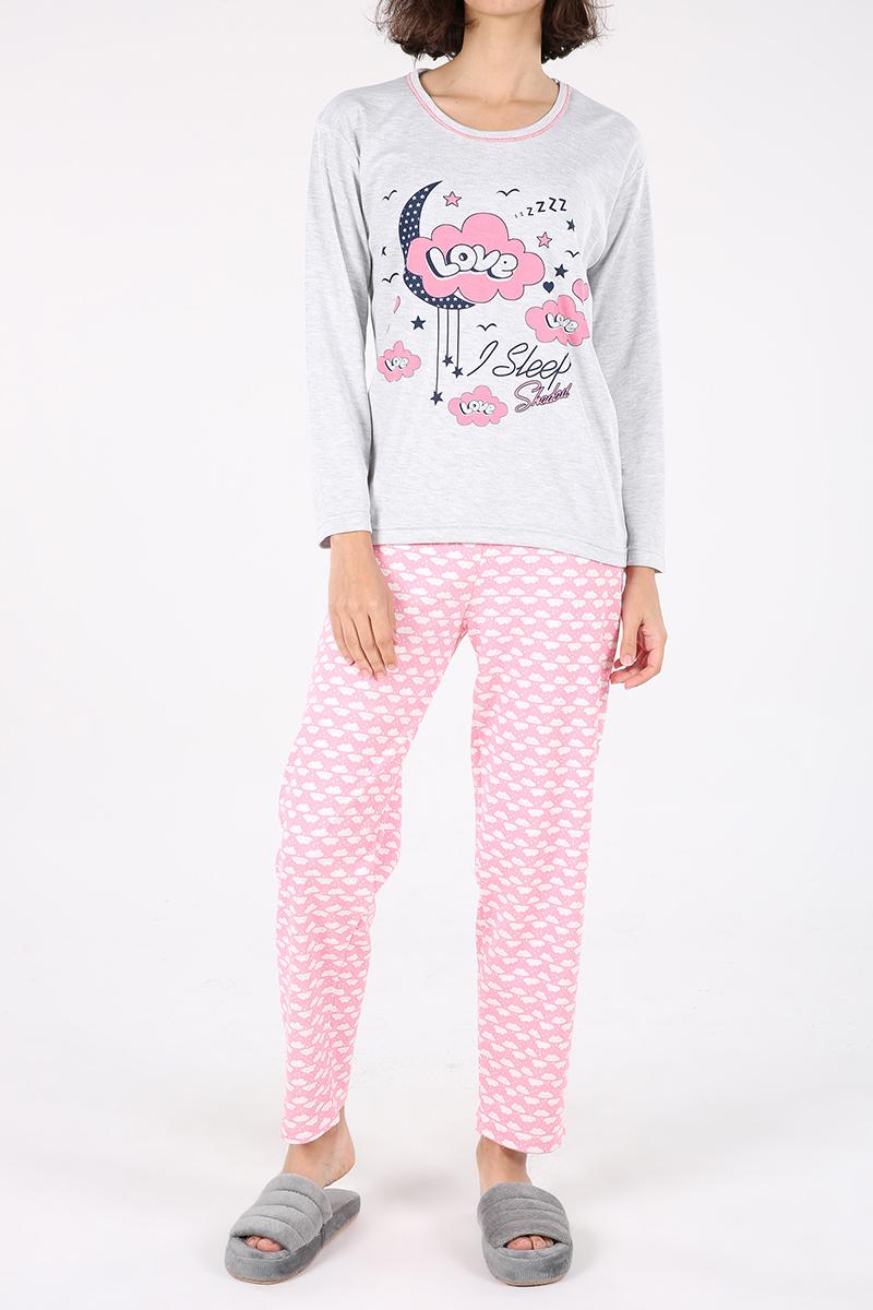 Love Baskılı Pijama Takımı