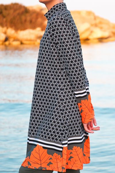 Marina Dört Parça Pantolonlu Tesettür Mayo