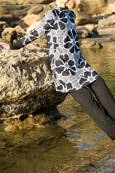Marina Dört Parça Tesettür Mayo