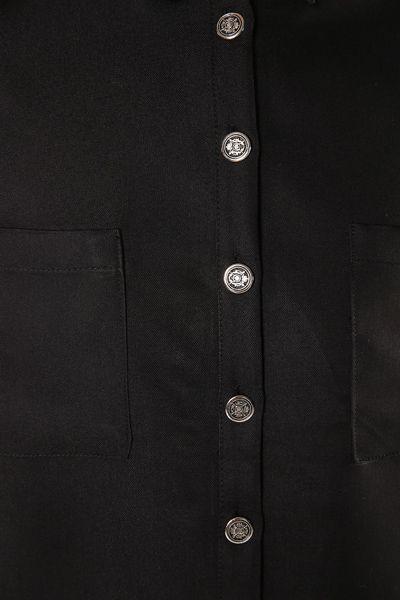 Metal Düğmeli Salaş Cepli Gömlek