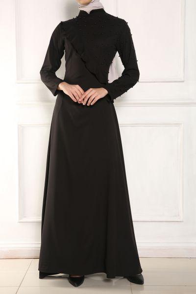 Micorazon İncili Kloş Elbise