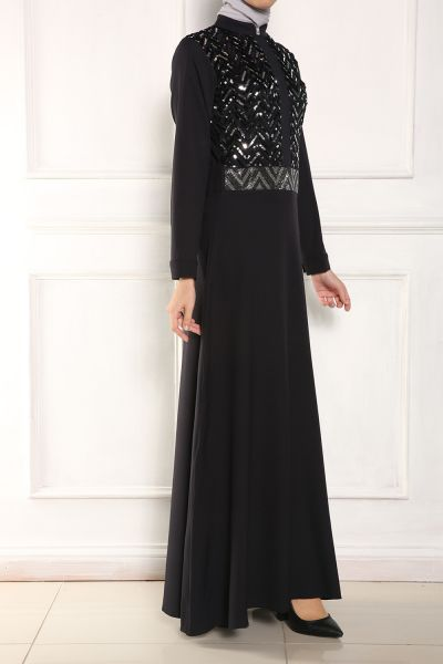 Micorazon Pul İşleme Kloş Elbise