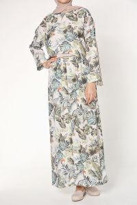 Minel aşk Desenli Elbise