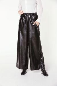 Modgrey Bol Paça Deri Pantolon