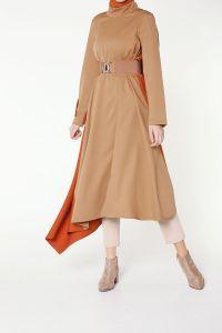 Modgrey Kalın Kemerli Elbise