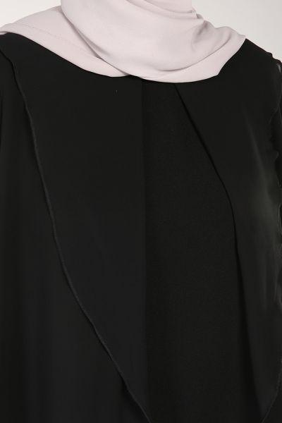 Modgrey Fırfırlı Krep Şifon Bluz
