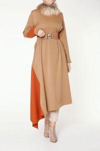 Modgrey Kürklü Elbise