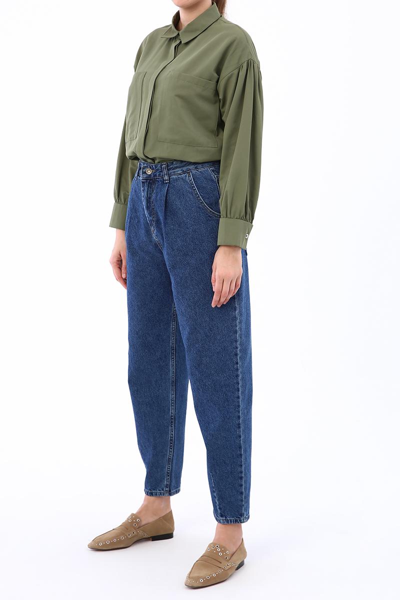 Mom Pileli Pantolon