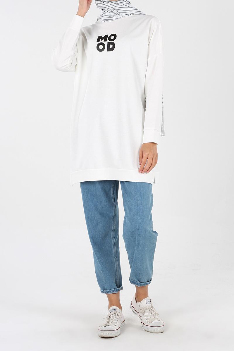 Mood Baskılı Sweatshirt