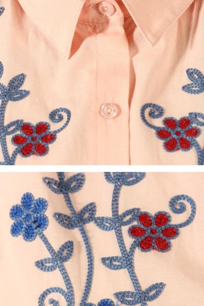 Embroidered Hem Tunic