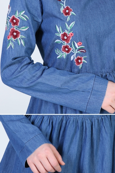 EMBROIDERED KOT DRESS