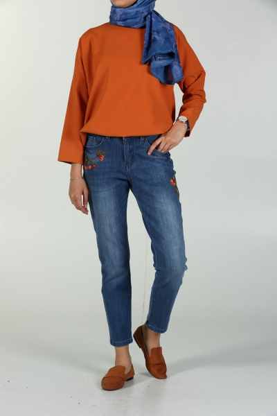EMBROIDERED JOTH TROUSER