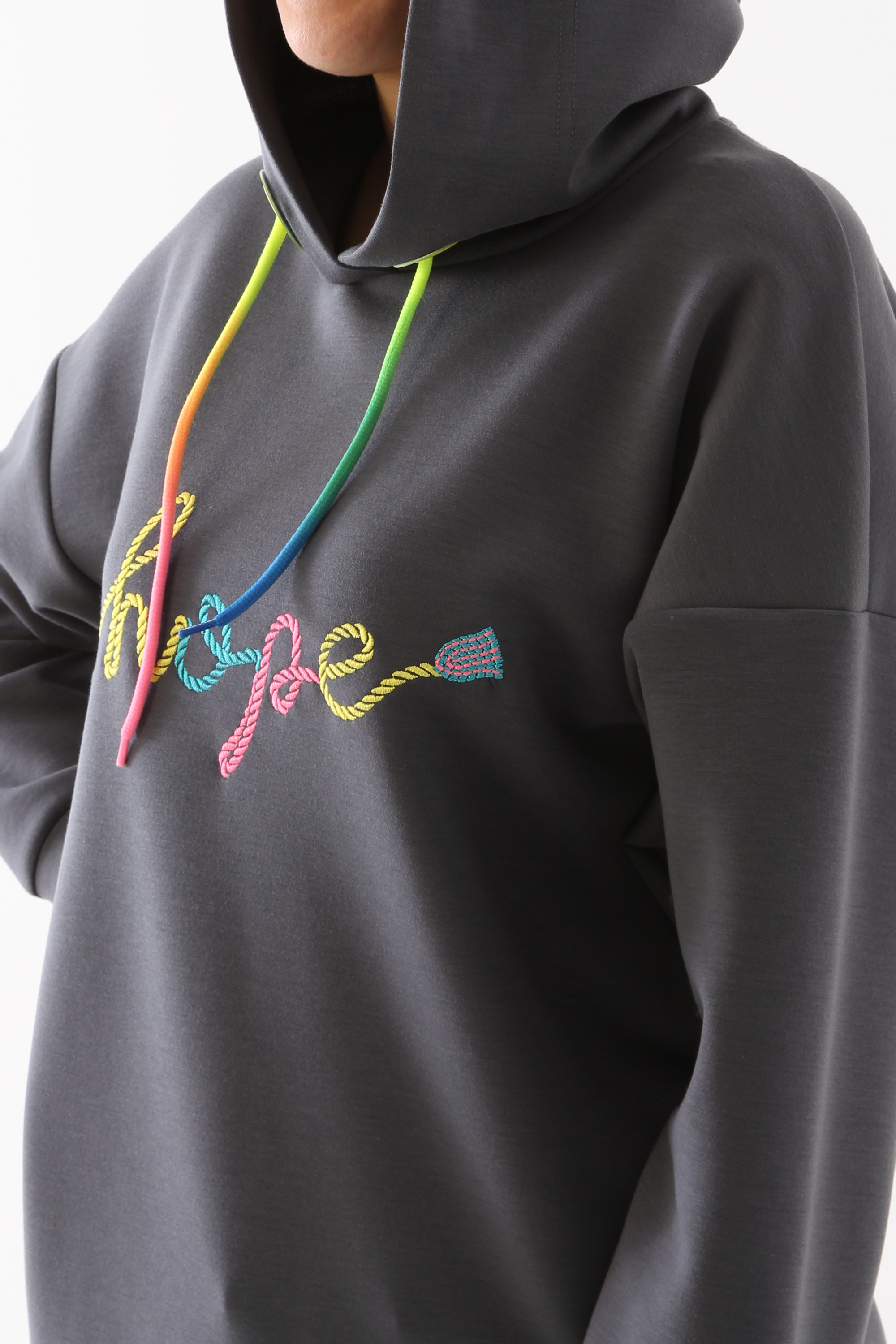 Colorful Embroidered Detailed Sweatshirt Tunic