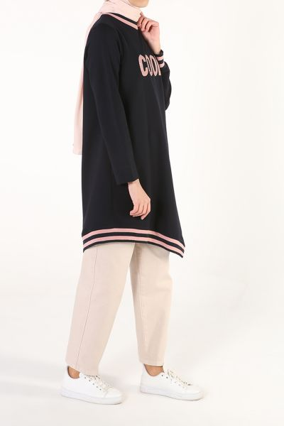Embroidered Combed Cotton Tunic