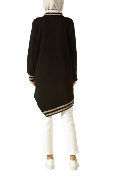Nakışlı Ribanalı Penye Tunik