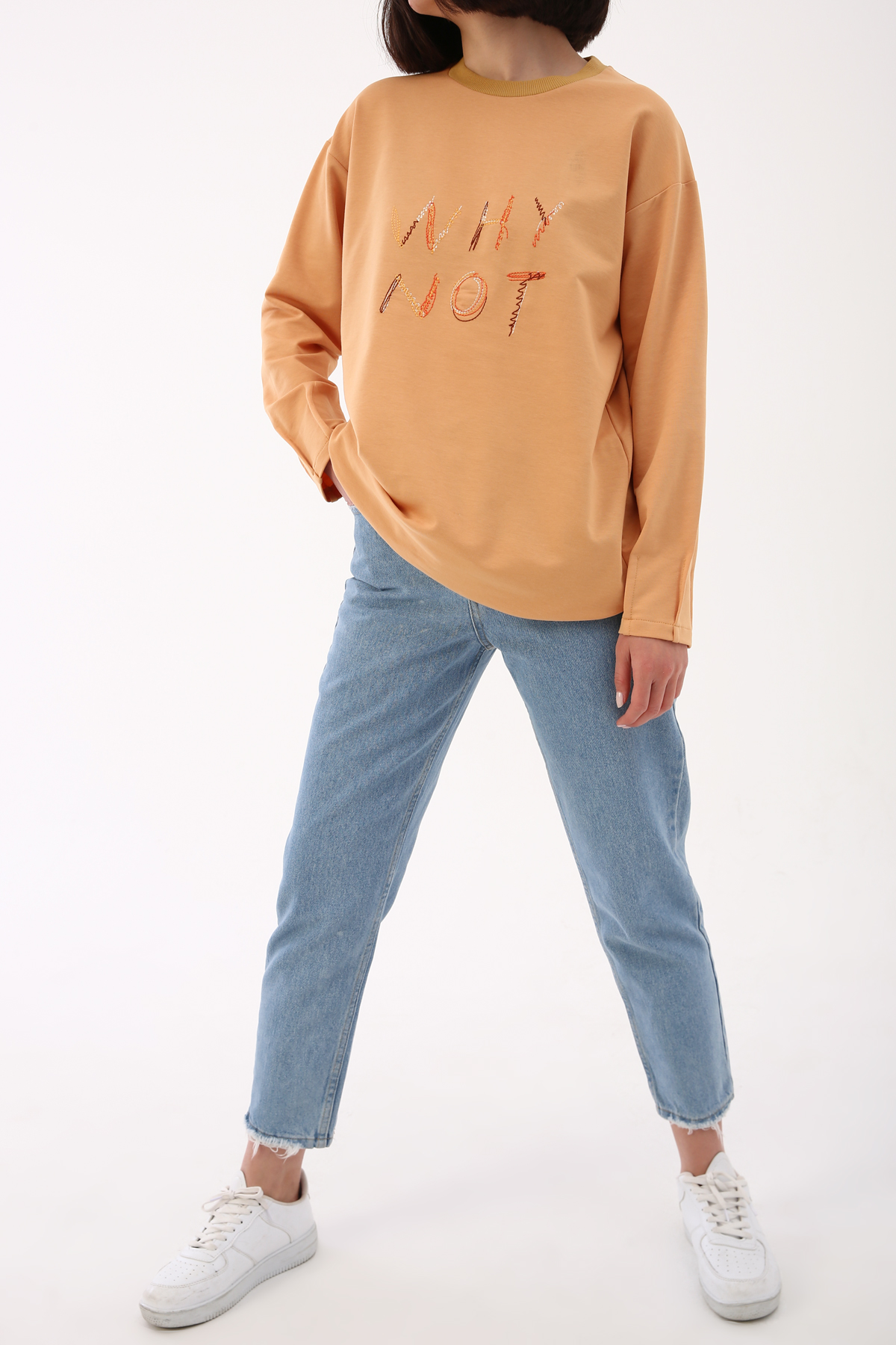 Crew Neck Embroidered Tunic