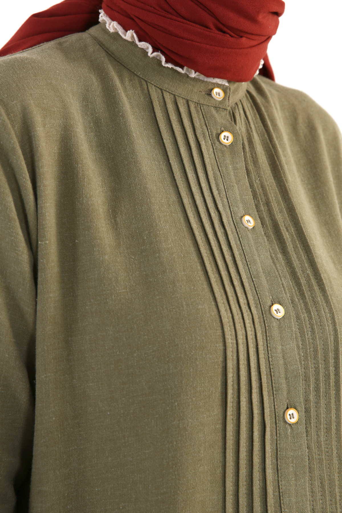 Pleated Long Linen Tunic