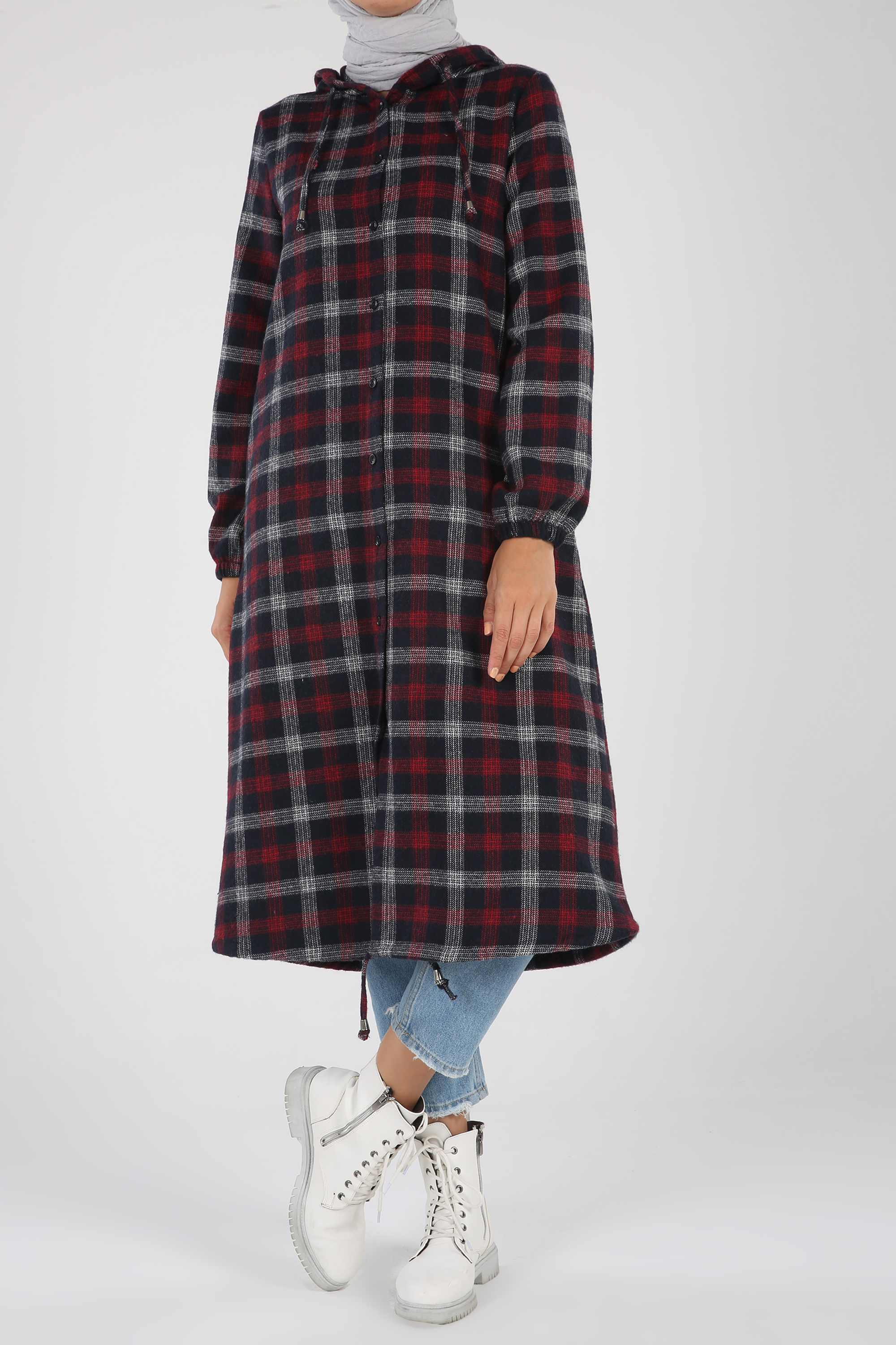 Hooded Buttoned Cape