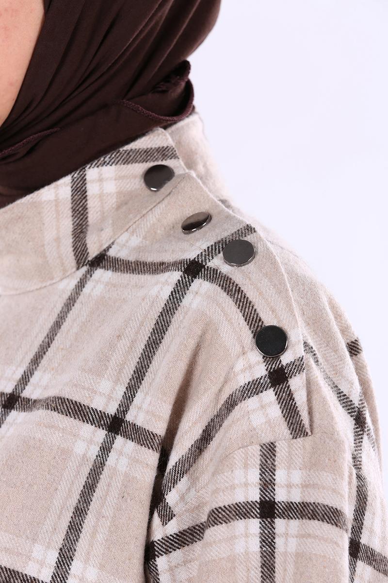 Plaid Detail Tunic