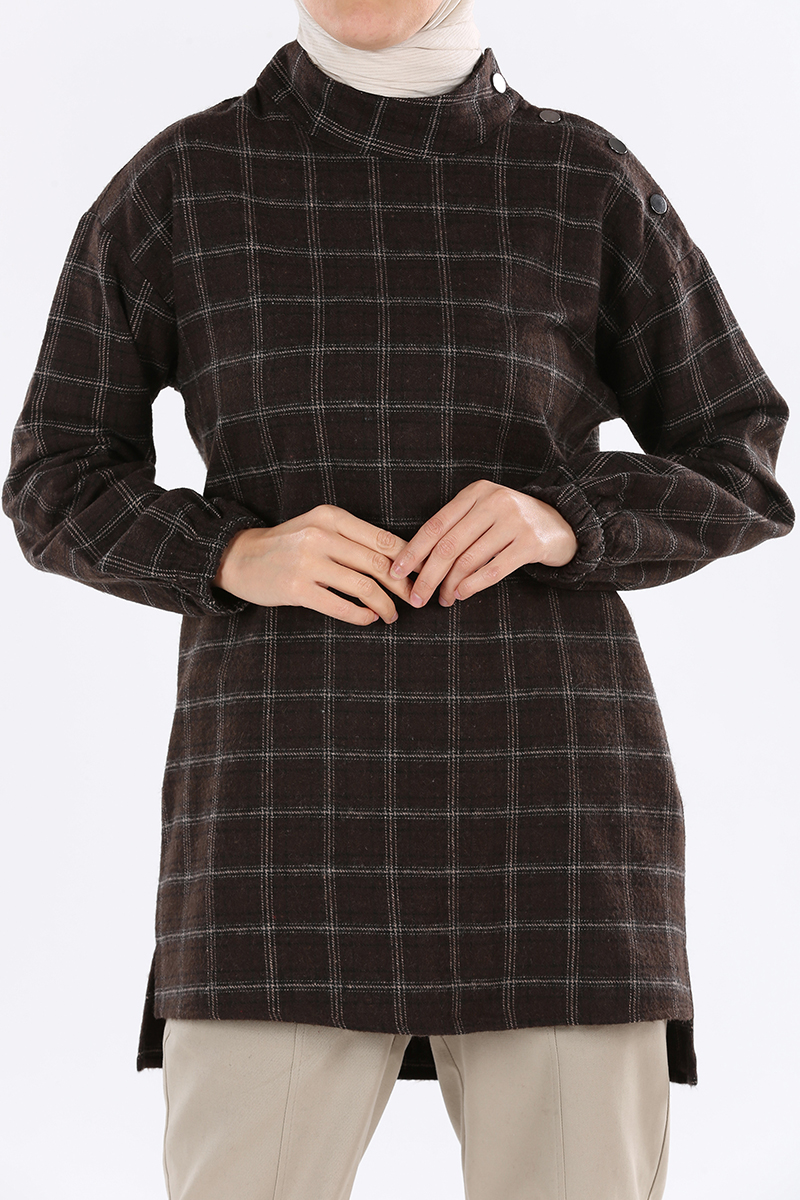 Plaid Detail Tunic