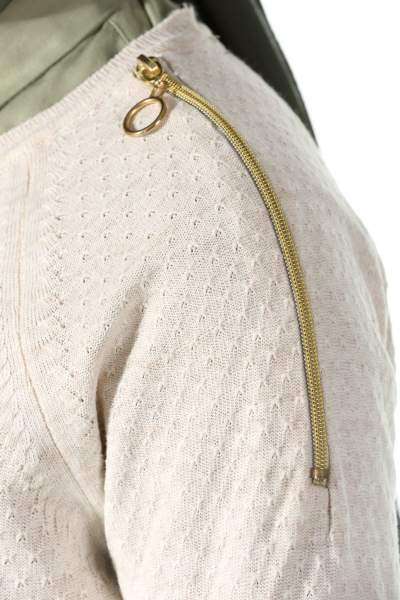 Zipper Detailed Sweater Tunic