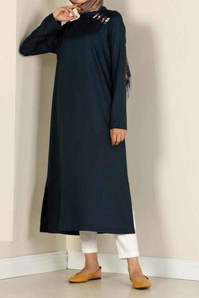 Renkli Biritli Tunik