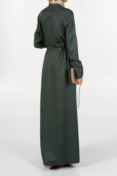 FRONT ZIPPER KUŞGOSLU NATURAL FABRIC DRESS