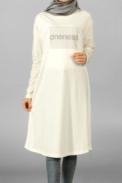ONENESS PRINTED COMBED COTTON TUNIC