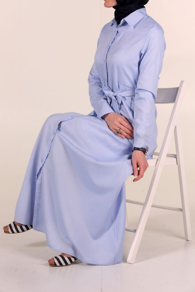 BUTTON FRONT DRESS WITH POCKET