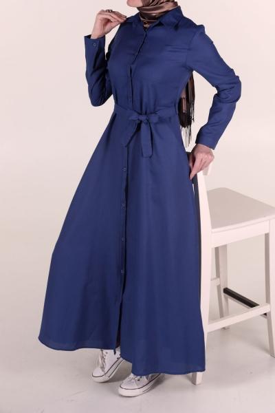 Cepli Düğmeli Elbise
