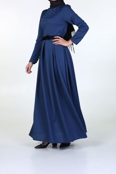 İncili Kemerli Elbise