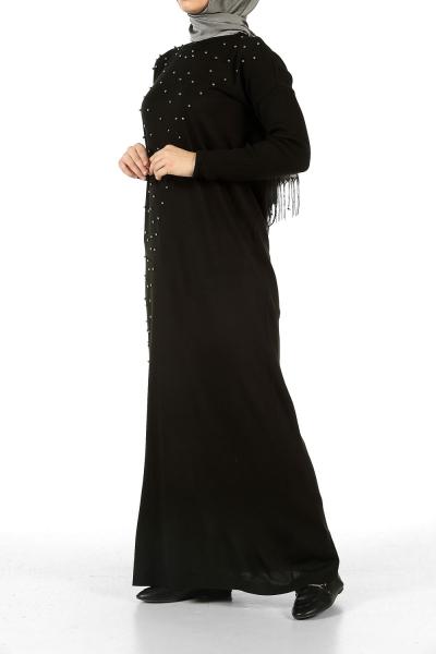 İncili Triko Elbise