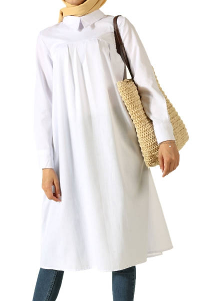 Pleated Front Tunic