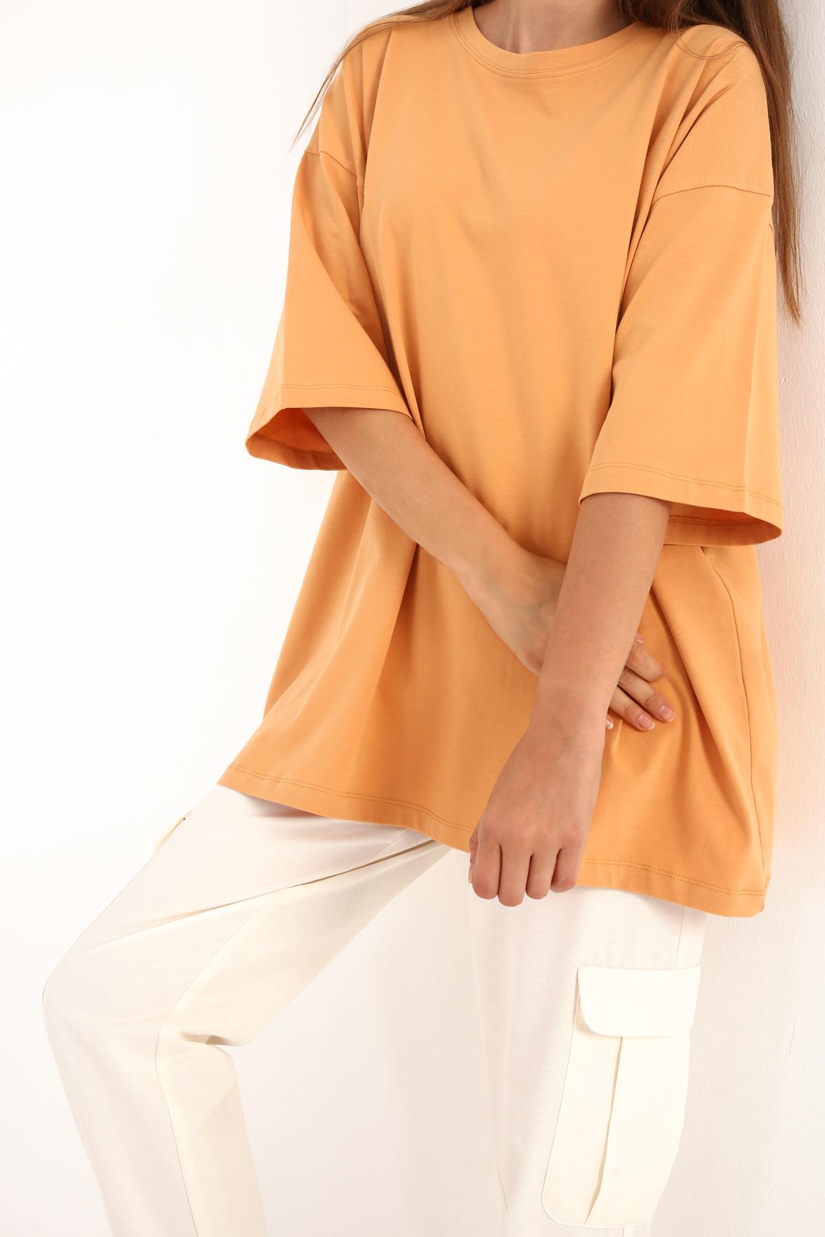 Oversize Cotton Basic Short Sleeve T-shirt